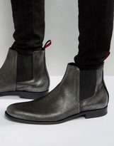 Hugo By Hugo Boss Sigma Metallic Chelsea Boots