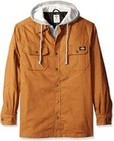 Dickies Men's Big and Tall Relaxed Fit Canvas Shirt Jacket with Quilted Lining