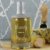 Copper and Sable 'Brandy Makes Me Randy' Glass Decanter