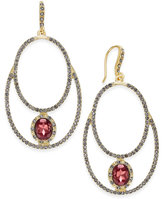 INC International Concepts Gold-Tone Pavé Double-Loop Drop Earrings, Only at Macy's