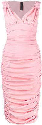 Norma Kamali Tara Draped Dress