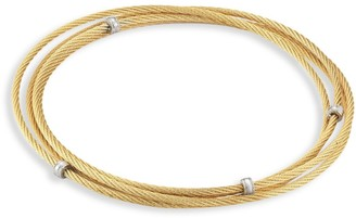 Alor Goldplated Stainless Steel Triple Wrap Cable Bracelet