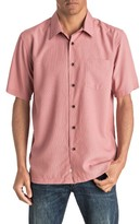 Quiksilver Men's Waterman Collection 'Cane Island' Regular Fit Short Sleeve Sport Shirt