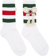 Gucci White Bow Little William Socks
