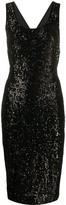 Diane von Furstenberg Mercury cross-back sequin dress