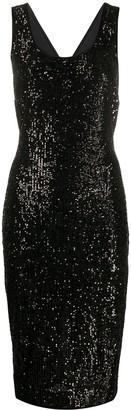 Diane von Furstenberg Mercury cross-back sequin dress