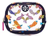 Tory Burch Round Printed-Fish Cosmetic Case