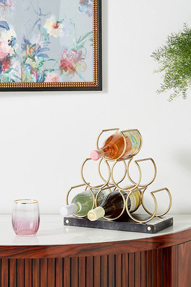 Anthropologie Mother-of-Pearl Inlay Wine Rack By in White Size S