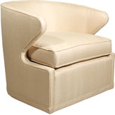 Horchow Dyna St. Clair Gold Swivel Chair