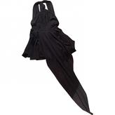 Saint Laurent Grey Silk Dress