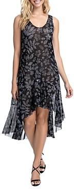 Gottex Pepita High/Low Mesh Dress