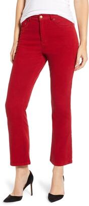 Pam And Gela Corduroy Slim Crop Flare Pants