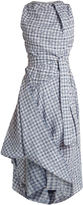 Vivienne Westwood Gingham asymmetric dress