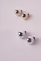 Missguided Twin Pack Double Sided Earrings