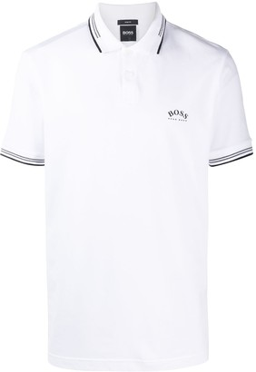 HUGO BOSS Logo-Print Short Sleeved Polo Shirt