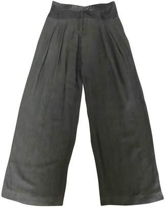 Anne Valerie Hash Black Linen Trousers