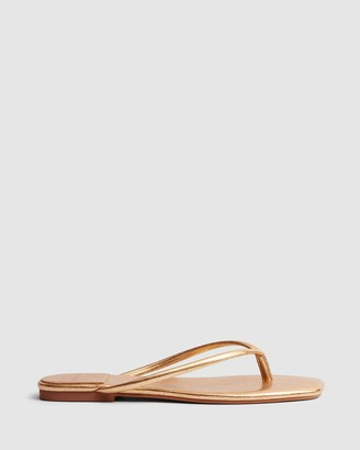 cherrichella - Women's Gold All thongs - Petal Sandals - Size One Size, 37 at The Iconic