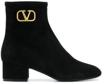 Valentino VLOGO 50mm ankle boots