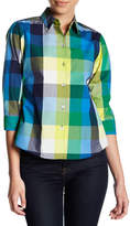 Foxcroft Check Print Shirt (Petite)