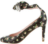 Carven Floral Printed Leather Pumps