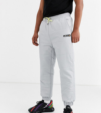 Ellesse Panna quilted ripstop joggers in grey exclusive at ASOS
