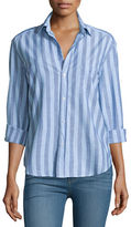 Frank And Eileen Eileen Long-Sleeve Striped Chambray Blouse