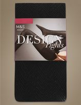 Marks and Spencer Secret SlimmingTM Chevron Opaque Tights