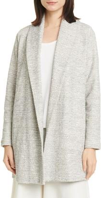 Eileen Fisher Shawl Collar Organic Cotton Blend Jacket