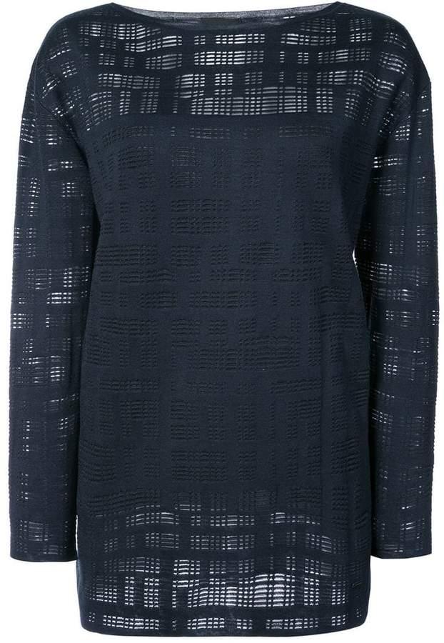 Akris mesh effect blouse