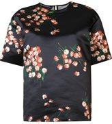 Rochas floral print satin top