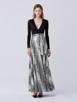 Diane von Furstenberg Aviva Wrap Gown