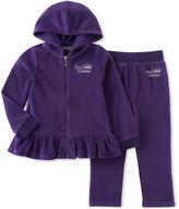 Juicy Couture Purple Velour Zip-Up Hoodie & Warm-Up Pants - Infant & Girls