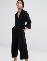 Whistles Ruby Wrap Tie Jumpsuit
