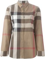 Burberry check print shirt - women - Cotton - M