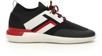 Tod's NO CODE 02 SNEAKERS 10 Black, White, Red Technical, Leather