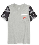 Nike Boy's Contrast Sleeve Cotton T-Shirt