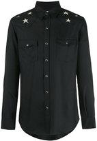 Saint Laurent shoulder star print shirt - men - Viscose/metal - S