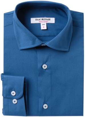 Isaac Mizrahi Solid Dress Shirt (Big Boys)