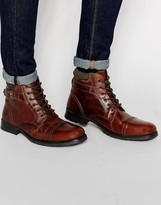 Red Tape Lace Up Boots