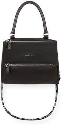 Givenchy Pandora Small Fabric Satchel Bag with Logo Strap