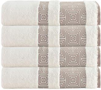 Enchante Home Set Of 4 Becky Bath Towels