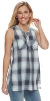 Women's SONOMA Goods for LifeTM Plaid Sleeveless Tunic
