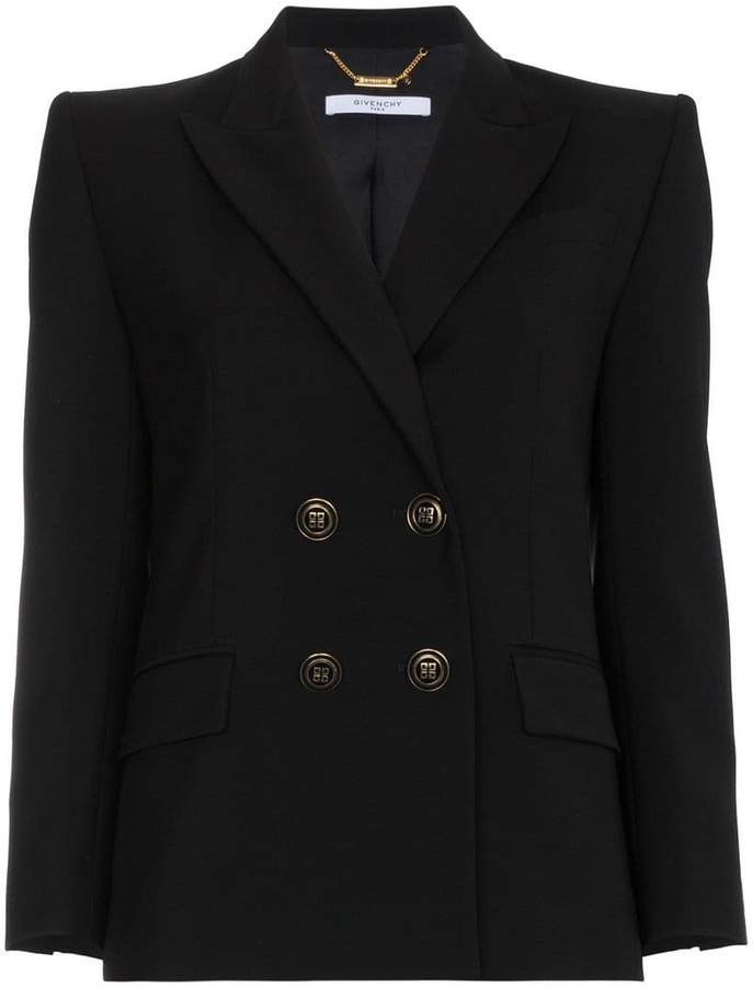 Givenchy double breasted fitted jacket