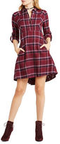 BCBGeneration Plaid Shirt Dress