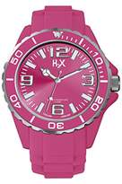Haurex H2X Women's SF382DF1 Reef Luminous Water Resistant Hot Pink Soft Rubber Watch