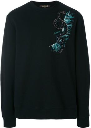 Roberto Cavalli snake embellished sweatshirt