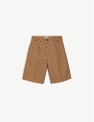 Gucci GG motif formal cotton-blend shorts 6-10 years