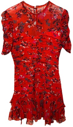 Tanya Taylor Red Silk Dress for Women