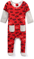Baby Nay Red Cars Layered Footie - Infant