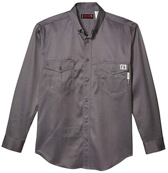Wolverine FR (Flame Resistant) Twill Shirt (Lead) Men's Clothing